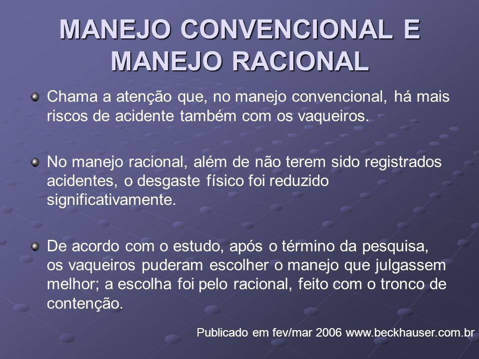 MANEJO CONVENCIONAL E MANEJO RACIONAL