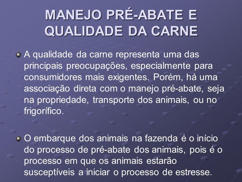 MANEJO PRÉ-ABATE E QUALIDADE DA CARNE