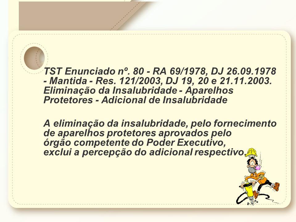 TST Enunciado nº. 80 - RA 69/1978, DJ 26. 09. 1978 - Mantida - Res