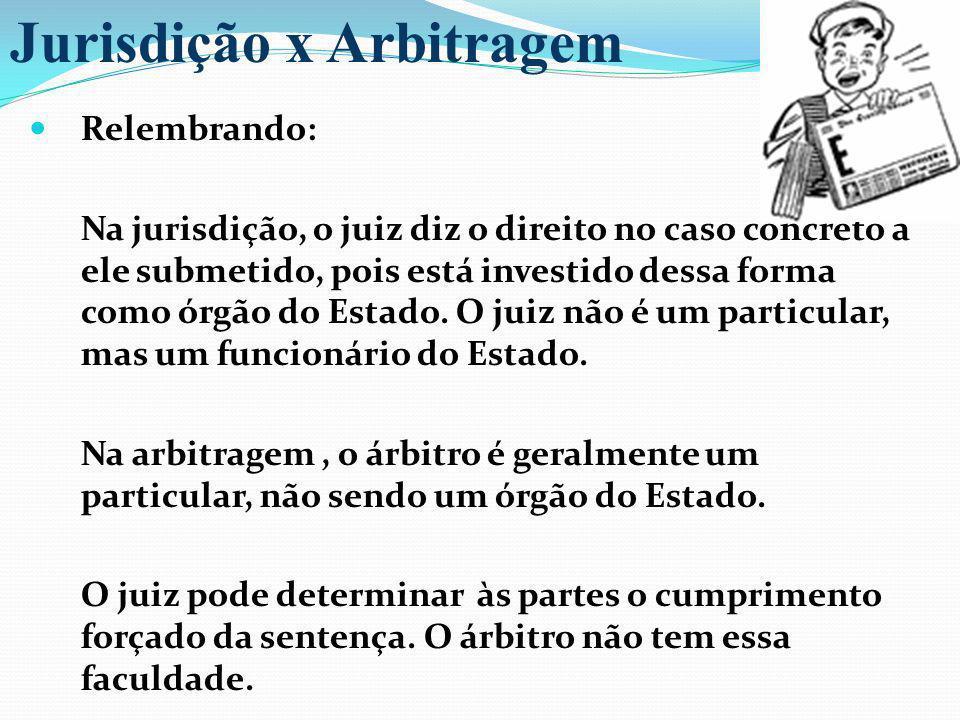 Jurisdição x Arbitragem
