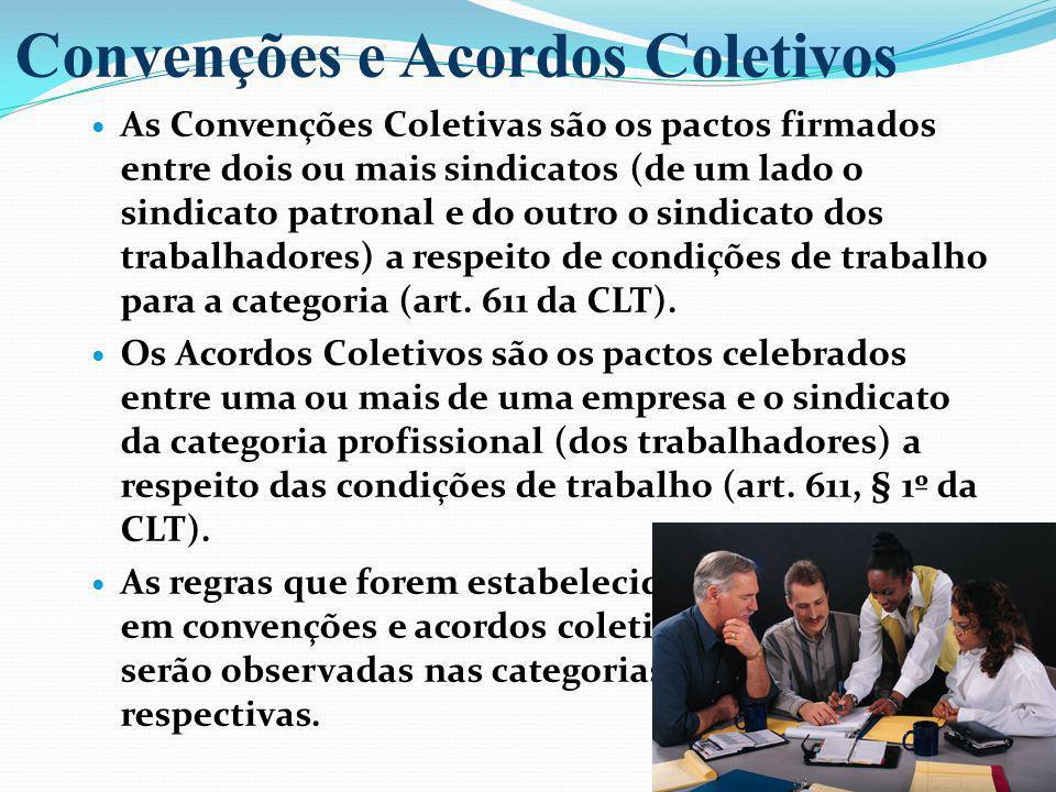 Convenções e Acordos Coletivos