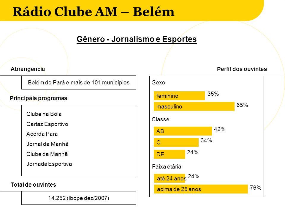 Gênero - Jornalismo e Esportes