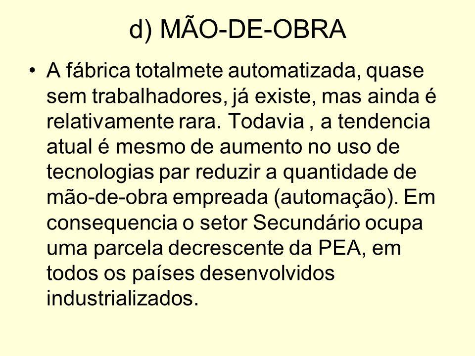 d) MÃO-DE-OBRA
