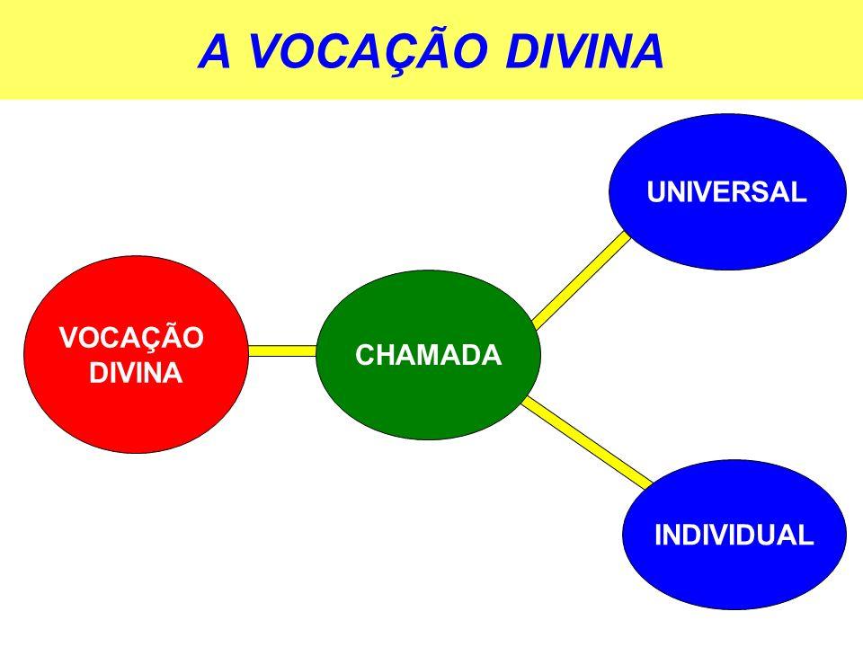 A VOCAÇÃO DIVINA UNIVERSAL VOCAÇÃO DIVINA CHAMADA INDIVIDUAL