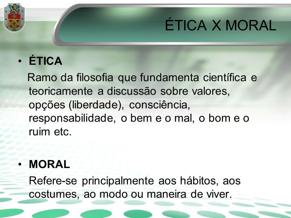 ÉTICA X MORAL ÉTICA.