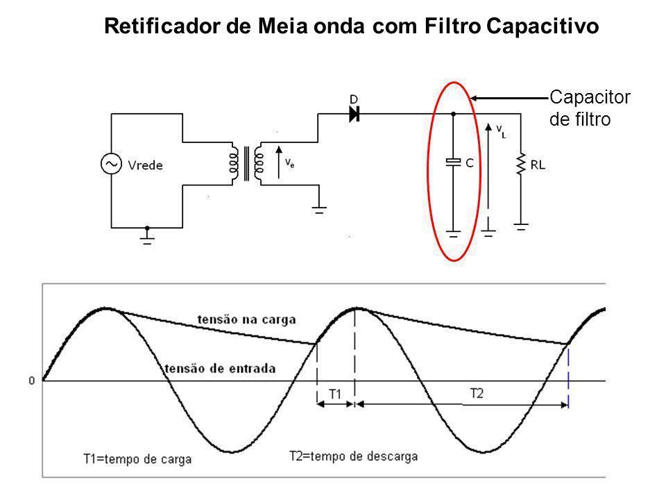 Retificador de Meia onda com Filtro Capacitivo
