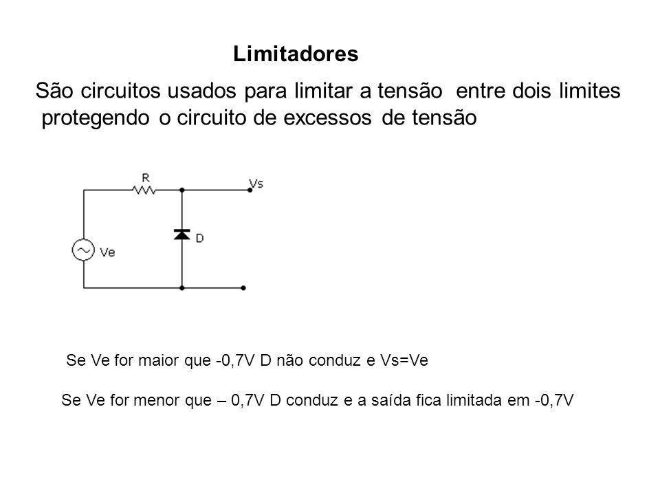 São circuitos usados para limitar a tensão entre dois limites