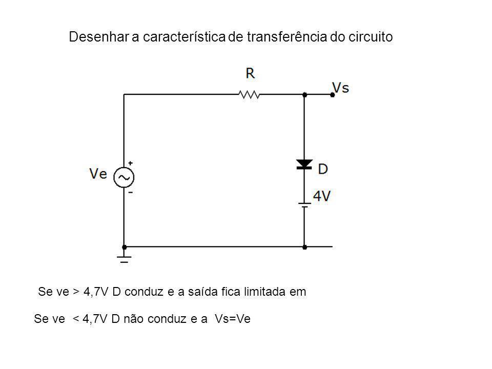 Desenhar a característica de transferência do circuito