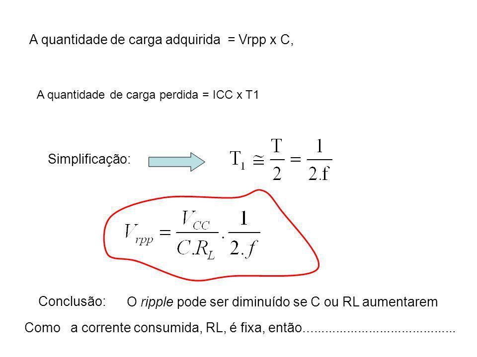 A quantidade de carga adquirida = Vrpp x C,