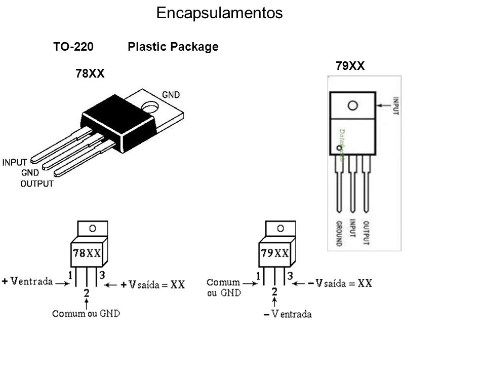 Encapsulamentos TO-220 Plastic Package 79XX 78XX