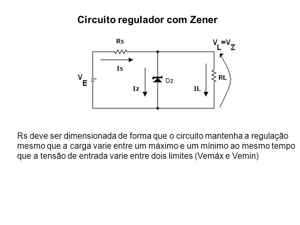 Circuito regulador com Zener