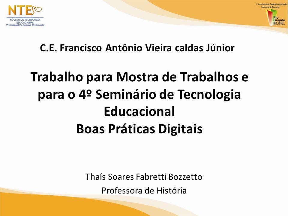 Thaís Soares Fabretti Bozzetto Professora de História