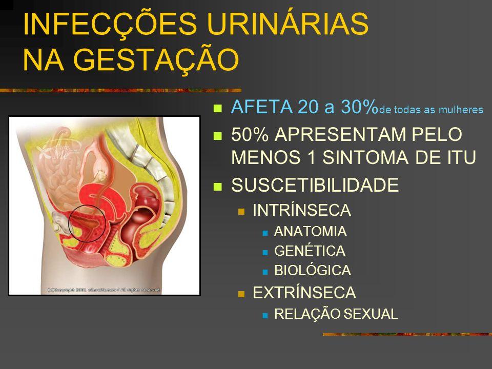 INFECÇÕES URINÁRIAS NA GESTAÇÃO