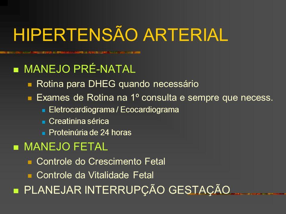 HIPERTENSÃO ARTERIAL MANEJO PRÉ-NATAL MANEJO FETAL