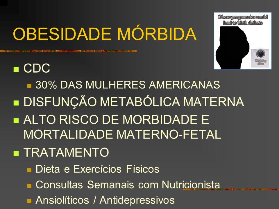 OBESIDADE MÓRBIDA CDC DISFUNÇÃO METABÓLICA MATERNA