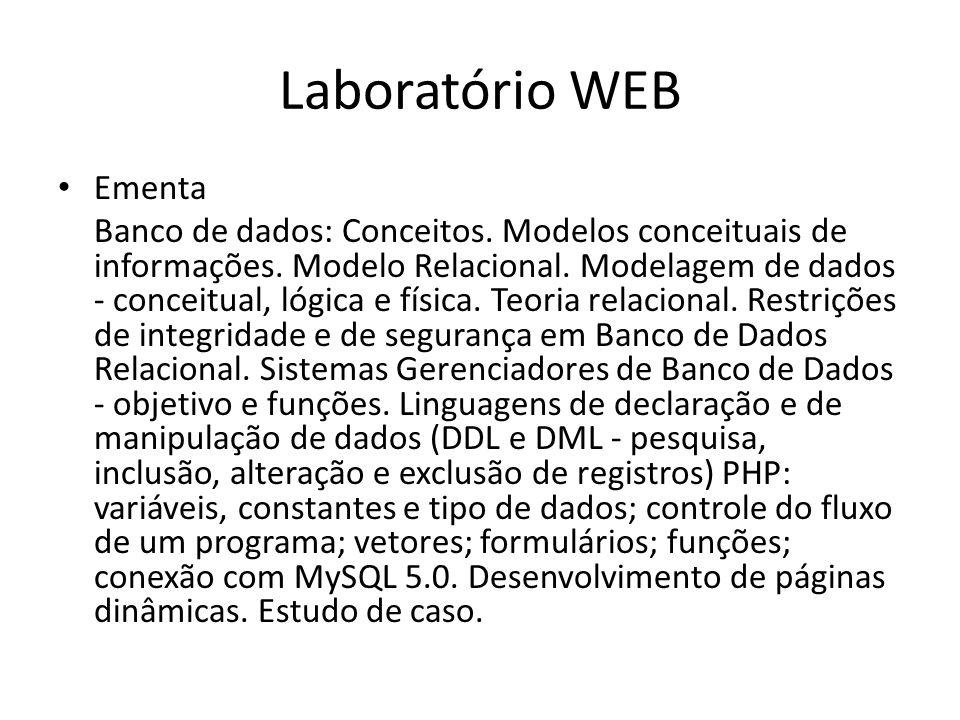 Laboratório WEB Ementa