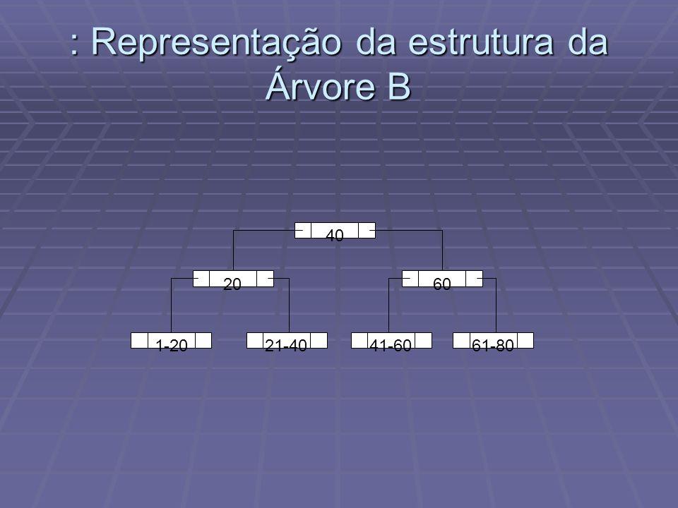 : Representação da estrutura da Árvore B