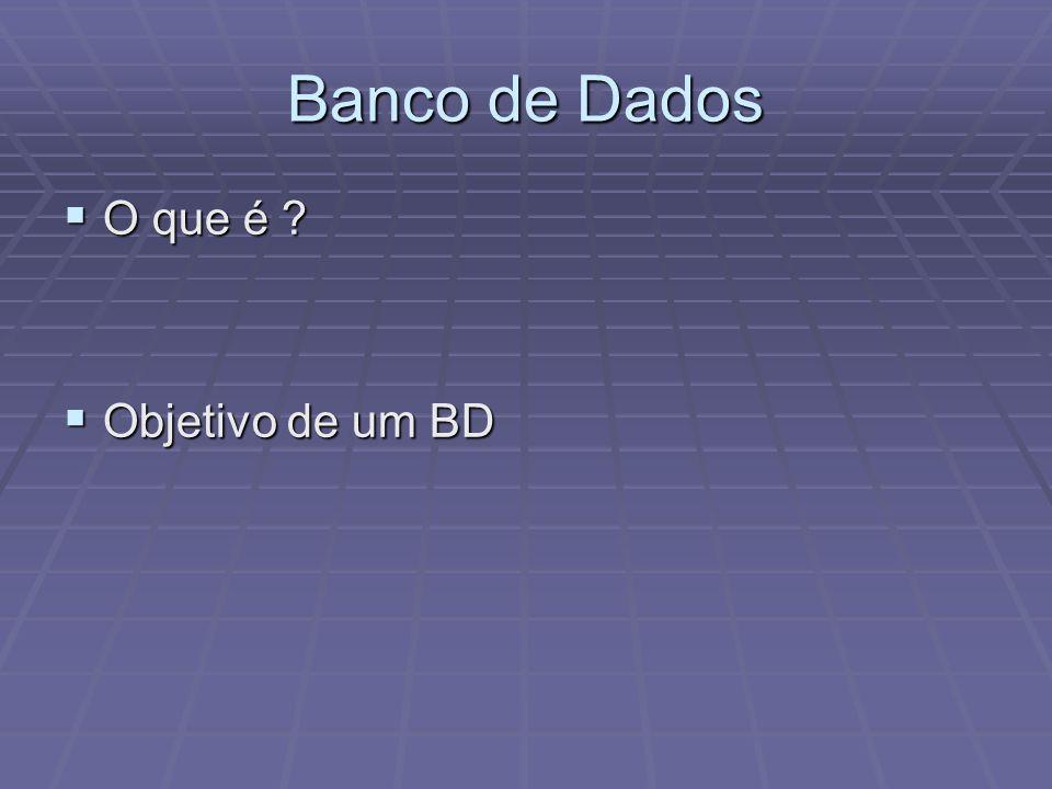 Banco de Dados O que é Objetivo de um BD