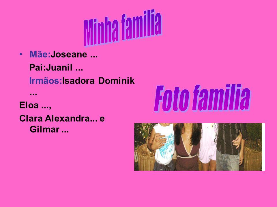Minha familia Foto familia Mãe:Joseane ... Pai:Juanil ...