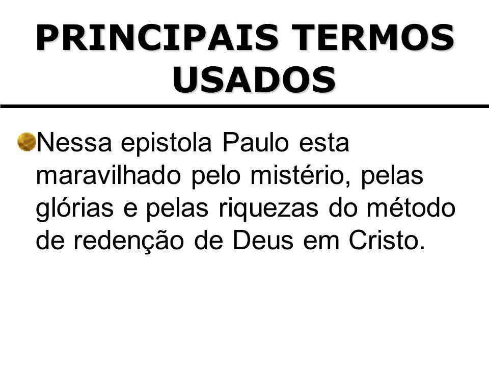 PRINCIPAIS TERMOS USADOS