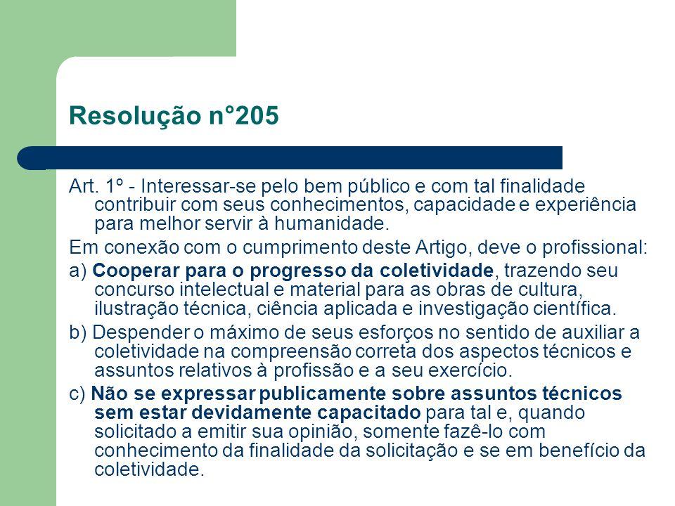 Resolução n°205