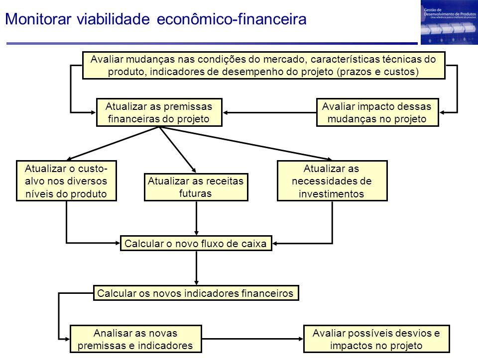 Monitorar viabilidade econômico-financeira