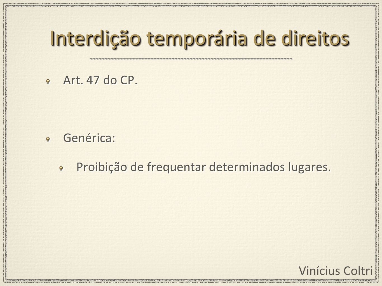 Interdição temporária de direitos