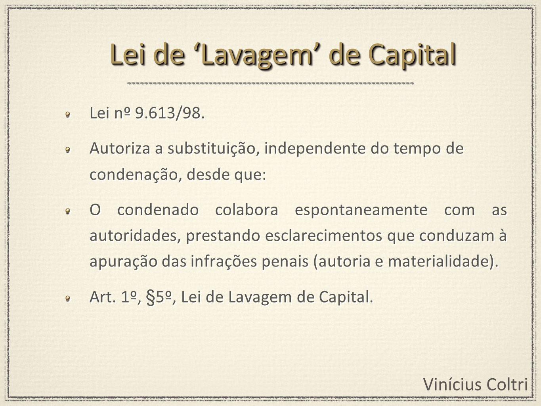 Lei de 'Lavagem' de Capital