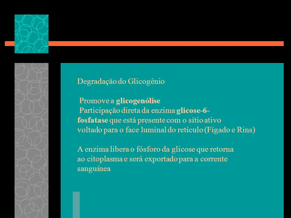 Degradação do Glicogênio