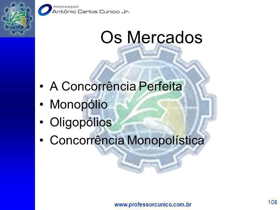 Os Mercados A Concorrência Perfeita Monopólio Oligopólios