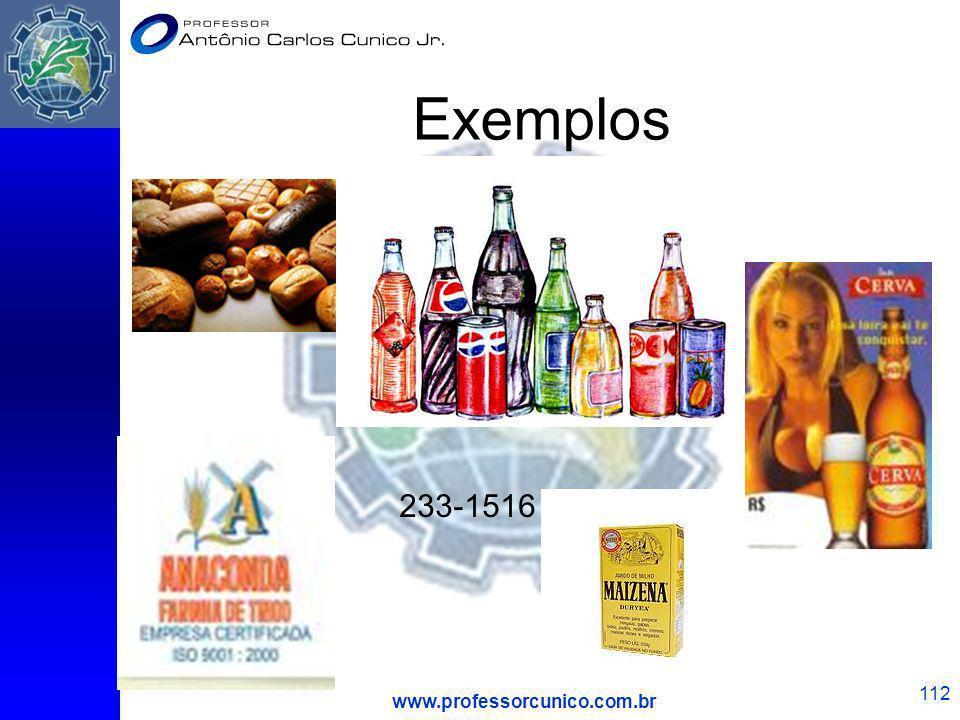 Exemplos 233-1516 www.professorcunico.com.br