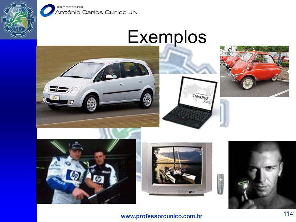 Exemplos www.professorcunico.com.br