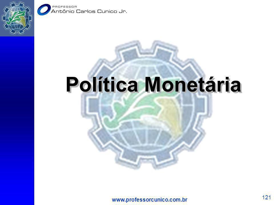 Política Monetária www.professorcunico.com.br 1