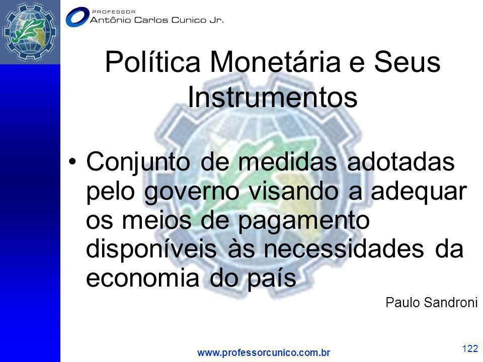 Política Monetária e Seus Instrumentos