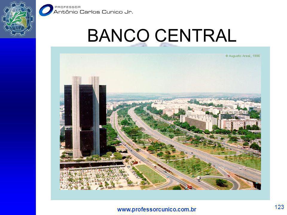 BANCO CENTRAL www.professorcunico.com.br