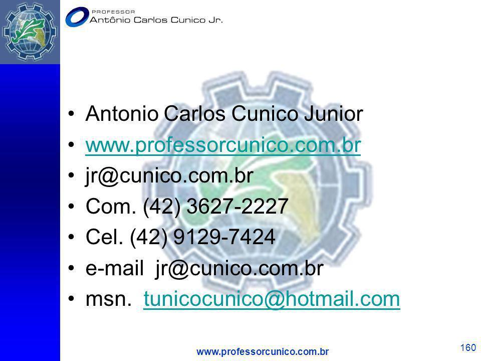 Antonio Carlos Cunico Junior www.professorcunico.com.br