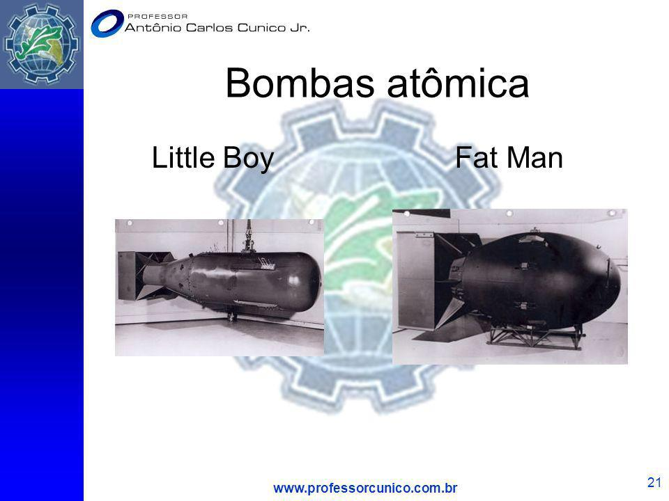 Bombas atômica Little Boy Fat Man www.professorcunico.com.br