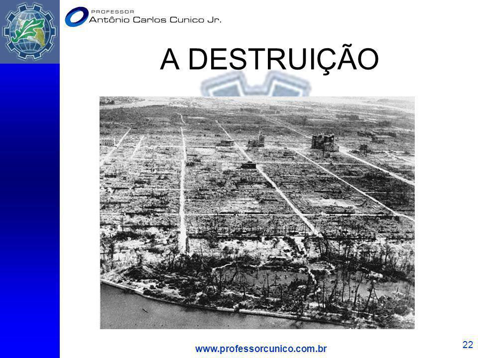 A DESTRUIÇÃO www.professorcunico.com.br
