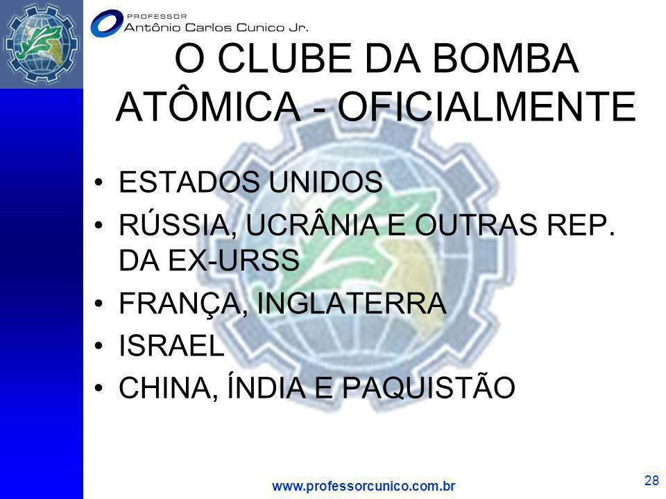 O CLUBE DA BOMBA ATÔMICA - OFICIALMENTE