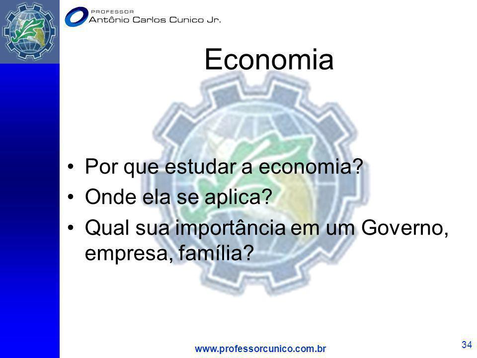 Economia Por que estudar a economia Onde ela se aplica