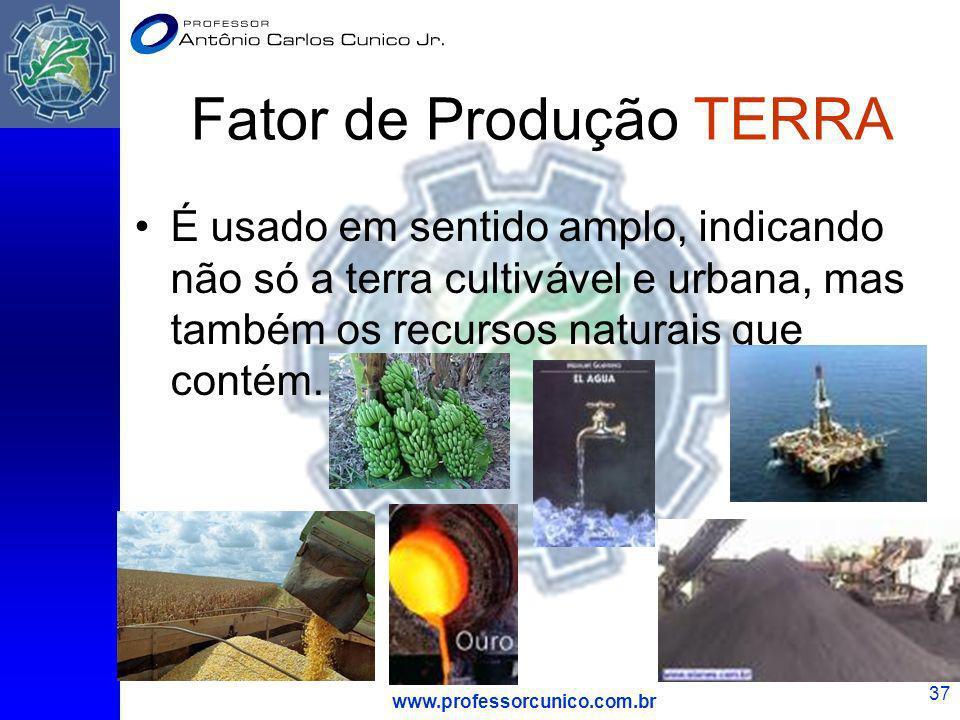 Fator de Produção TERRA