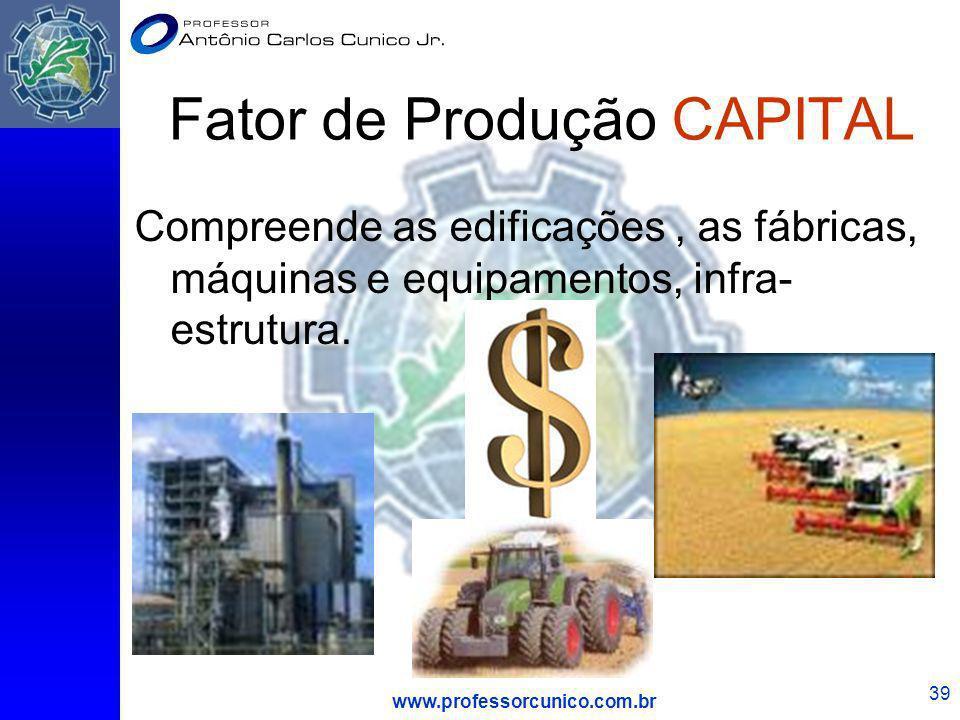 Fator de Produção CAPITAL