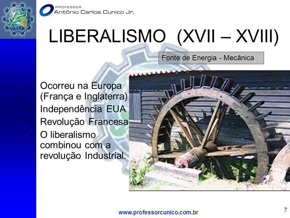 LIBERALISMO (XVII – XVIII)