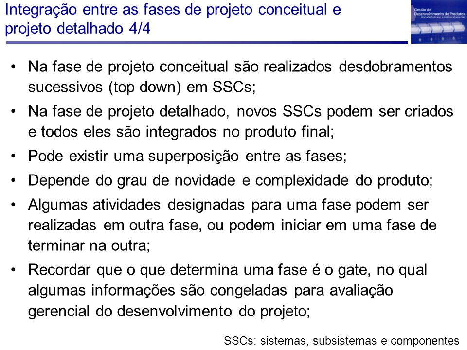 SSCs: sistemas, subsistemas e componentes