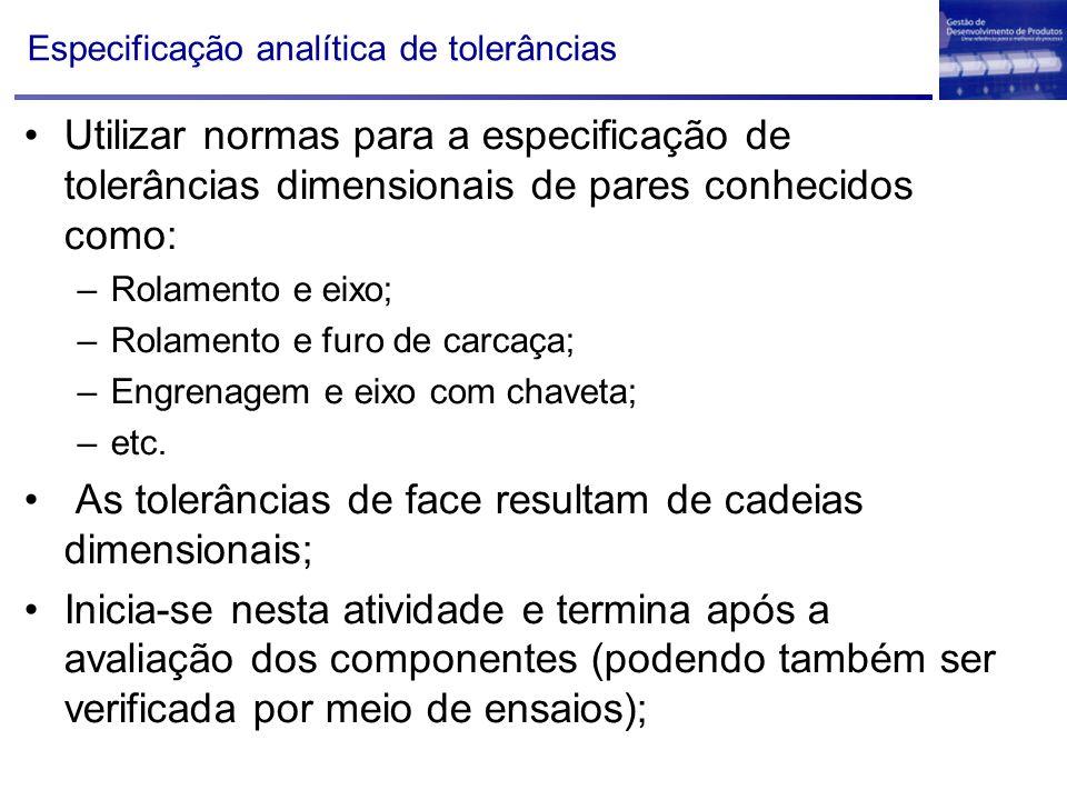 Especificação analítica de tolerâncias