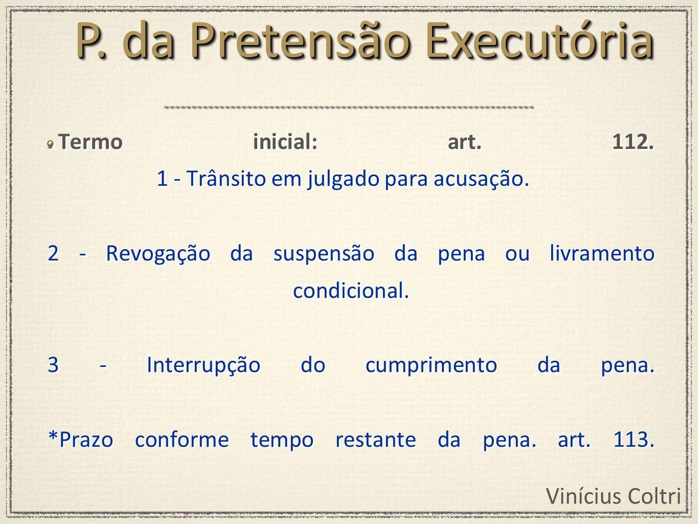 P. da Pretensão Executória