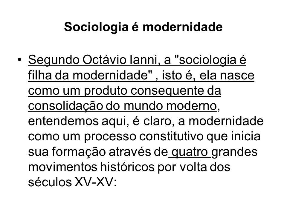 Sociologia é modernidade