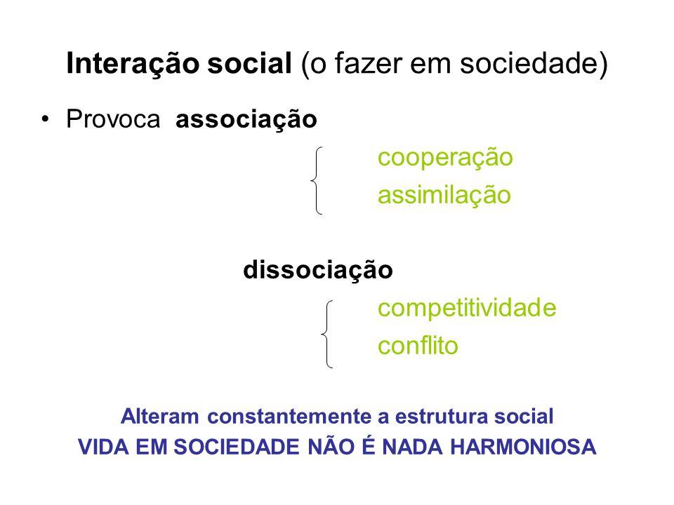 Interação social (o fazer em sociedade)