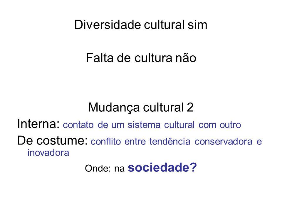 Diversidade cultural sim
