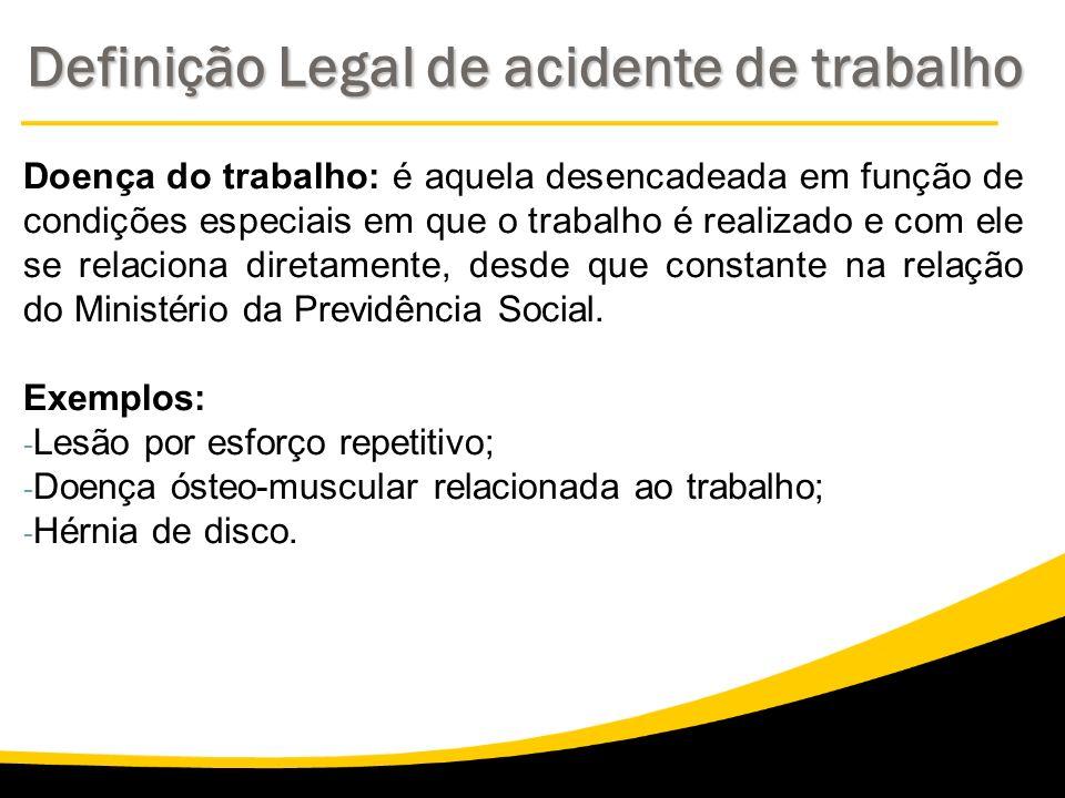 Definição Legal de acidente de trabalho